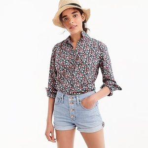 J. Crew Liberty Floral Buttondown Shirt NWOT